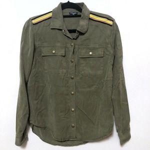 Splendid SZ XS Tencel Button Up Army Green
